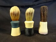 Old Vtg Collectible Men's Shaving Brushes Lot Of 3 Sanax Ever Ready
