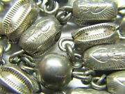 Rosary Very Unusual Creed Vintage Solid Sterling Rosary