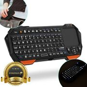 30ft Range Mini Wireless Bluetooth Keyboard W/ Touchpad For Ps4 Xbox 360 Pc Vr