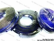 100and039 Feet Each 10 12 And 16 Gauge Awg Blue/bk 300and039 Speaker Wire Car Home Audio