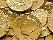 5 Lb Gold Foil Wrapped Chocolate Kennedy Half Dollar Coins Five Pounds Fresh