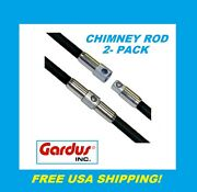 Gardus Crd307 Sooteater Chimney Rod, 2-pack Set New Crd307 Free Usa Shipping