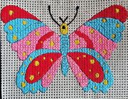 Cross Stitch Kits For Beginners, Large Hole Canvas With Needle And Yarn Included