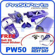 2000 - 2016 Yamaha Pw50 Py50 Blue Fender Cover + Fuel Tank + Seat + Decal