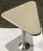 Murray Products Triangle / Corner Table With Pedestal 36.5andrdquow X 21andrdquod
