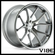 19 Ferrada Fr2 Silver Concave Wheels Rims Fits Ford Mustang Gt