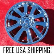 Set Of 4 New Chrome 19 Ford Mustang Oem Factory Wheels Rims 3813