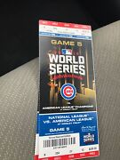World Series Ticket Cubs Game 3 Tickets 2000 Per Ticket