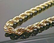 Brand New 10 Kt Yellow Gold Thick Rope Chain 36 12 Mm Franco