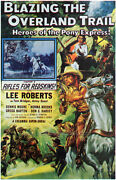 Blazing The Overland Trail Movie Poster 27x40 Lee Roberts Dennis Moore Norma