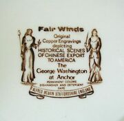 Fair Winds 8 Plate The George Washington At Anchor Alfred Meakin Staffordshire
