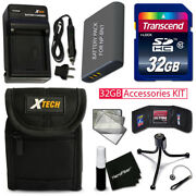 Xtech Accessory Kit For Sony W560 - Pro W/ 32gb Memory +btry / Chrgr +cse +more