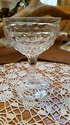 Fostoria American 4½ Footed Saucer Champagne / Sherbet - Strait Sided -hex Foot