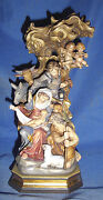 Pema Hand-carved And Painted Wood-bachthaler Block Nativity Scene-12 -italy- 699