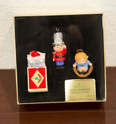 1979 Little Trimmers Soldier-angel And Mouse Hallmark Christmas Ornament Mib