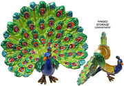 Peacock Jeweled Trinket Box With Crystals, By Rucinni, 2