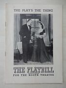 May 10th 1948 - Booth Theatre Playbill - The Plays The Thing - Louis Calhern