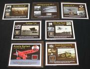 Authentic Fragments Of 7 Historic Aircraft On Coas - Earhart Wright Bleriot