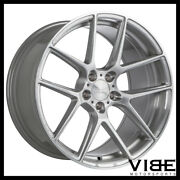 19 Ace Aff02 Flow Form Silver Concave Wheels Rims Fits Ford Mustang Gt Gt500