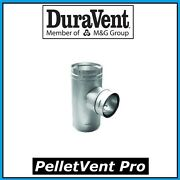 Duravent Pelletvent Pro Pipe 4 Increaser Tee With Clean Out Cap 4pvp-t3 New