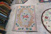 Vintage Primitive American Hand Made Hooked Rug Wool On Burlap - 2and0393 X 3and0396