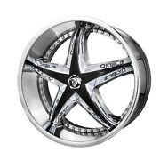 20 Inch 20x8.5 Diablo Reflectionx Chrome Wheel Rim 4x4.25 4x108 +35