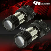 X2 Led 3157 10smd Q5 7w Red Projector Cree 12vdc Signal/brake/tail Light Bulbs