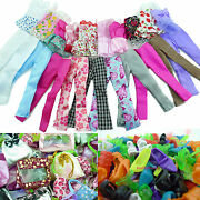 20pcs= 5 Blouse 5 Trousers 5 Bags 5 Shoes Outfit Clothes For 12 Inch 1/6 Doll