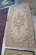 Vintage Primitive American Hand Hooked Rug Wool On Burlap 3and0392 X 6and039