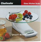 Chefmate Kitchen Food Digital Scale Max 9 Lb/ 4 Kg Precise Converts Grams To Oz