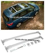 For 13-15 Nissan Pathfinder Silver Top Roof Rack Cross Bars Luggage Carrier Pair