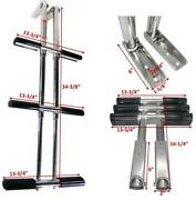 Pactrade Marine Boat 3 Steps Stainless Steel Telescopic Boat Dive Ladder