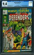 Marvel Feature 1 Cgc 9.4 1971 1st Defenders White Pages And New Case F11 120 Cm