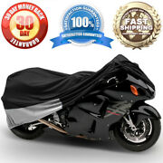 Universal Motorcycle Sport Bike Cover Street Storage Covers Shelter 90 Length