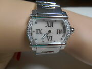 Ladies Phillipe Charriol Rare Actor Diamond Watch Mop Pearl Face Ss Boxes 6999