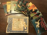 Antique Little Folks Library 1928 Child Books Mother Goose Set Game Board Game