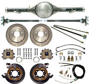 Currie 63-70 Chevy C10 5-lug Truck Rear End And Drilled Disc Brakeslinescables