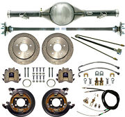 Currie 70-87 Chevy C10 5-lug Truck Rear End And Drilled Disc Brakeslinescables