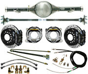 Currie 70-87 Chevy C10 5-lug Truck Rear End And Wilwood Drilled Disc Brakes,black