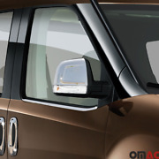 Fits Ram Promaster City 2015-2021 Stainless Chrome Side Mirror Cover Caps 2 Pcs