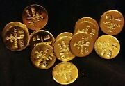 3 1 Gram Bar Usa Bullion 1g 22k Placer Gold Rounds From Mine X Lot 124 Anarchy