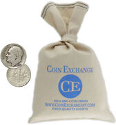 Bag Of 1000 100 Face Value 90 Silver Roosevelt Dimes Circulated Full Dates