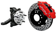 Wilwood Front Disc Brake Kit And Drop Spindles63-70 Chevy C10gmc C1512 Drlred