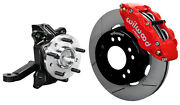 Wilwood Front Disc Brake Kit And Drop Spindles71-87 Chevy C10gmc C1512red