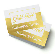 Gold Or Silver Foil Business Cards, 350gsm Single/double Sided, Templates To Use