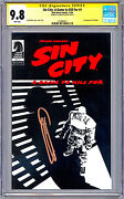 Sin City A Dame To Kill For 1 Cgc-ss 9.8 Frank Miller Story Cover And Art 1993