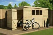 Empire 2500 Pent Garden Shed 10x7 Tandg Pent Shed Tanalised 3 Window Pressure Trea