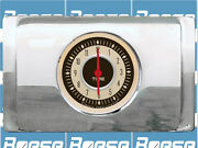 1940 Ford Deluxe Clock Insert W/ Classic Instruments Nostalgia Red Pointers