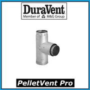 Duravent Pelletvent Pro Pipe 3 Adapter Tee With Clean-out Cap 3pvp-tad New