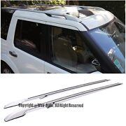Long Version Silver Top Roof Side Rails For 05-up Land Rover Discovery Lr3 Lr4